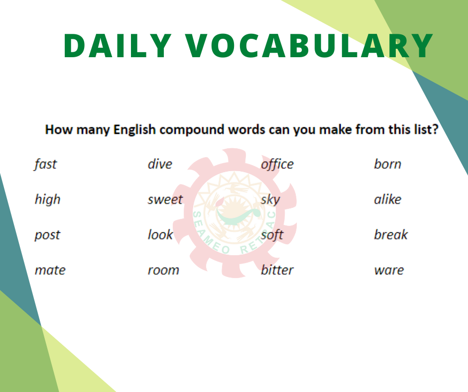 How many compound words can you make from this list?